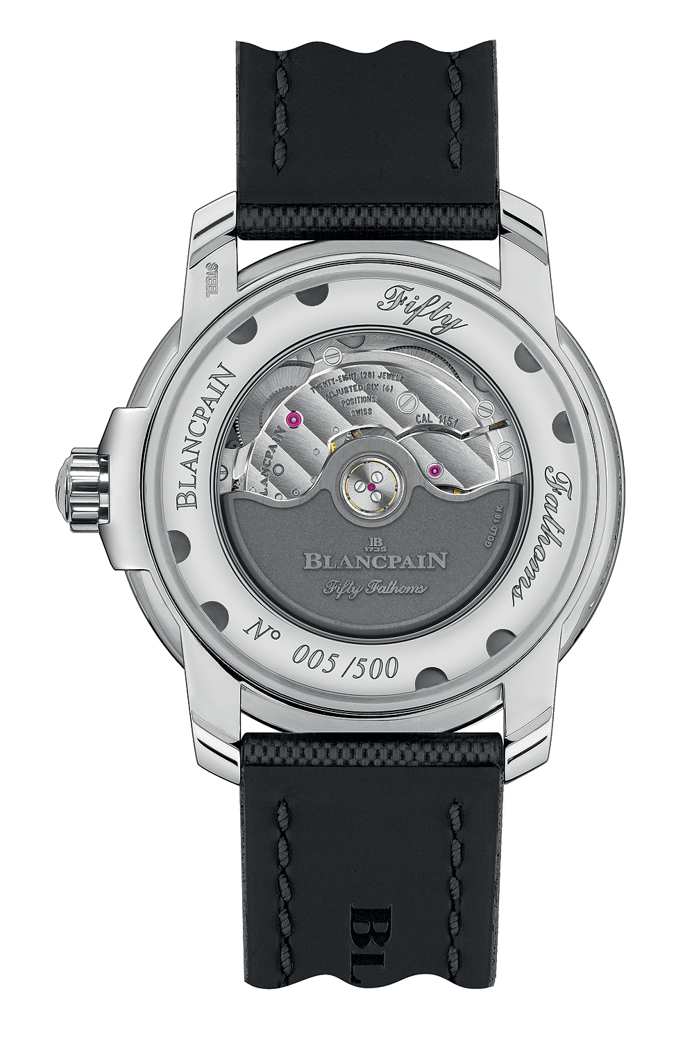 Blancpain Tribute to Fifty Fathoms Mil-Spec - back