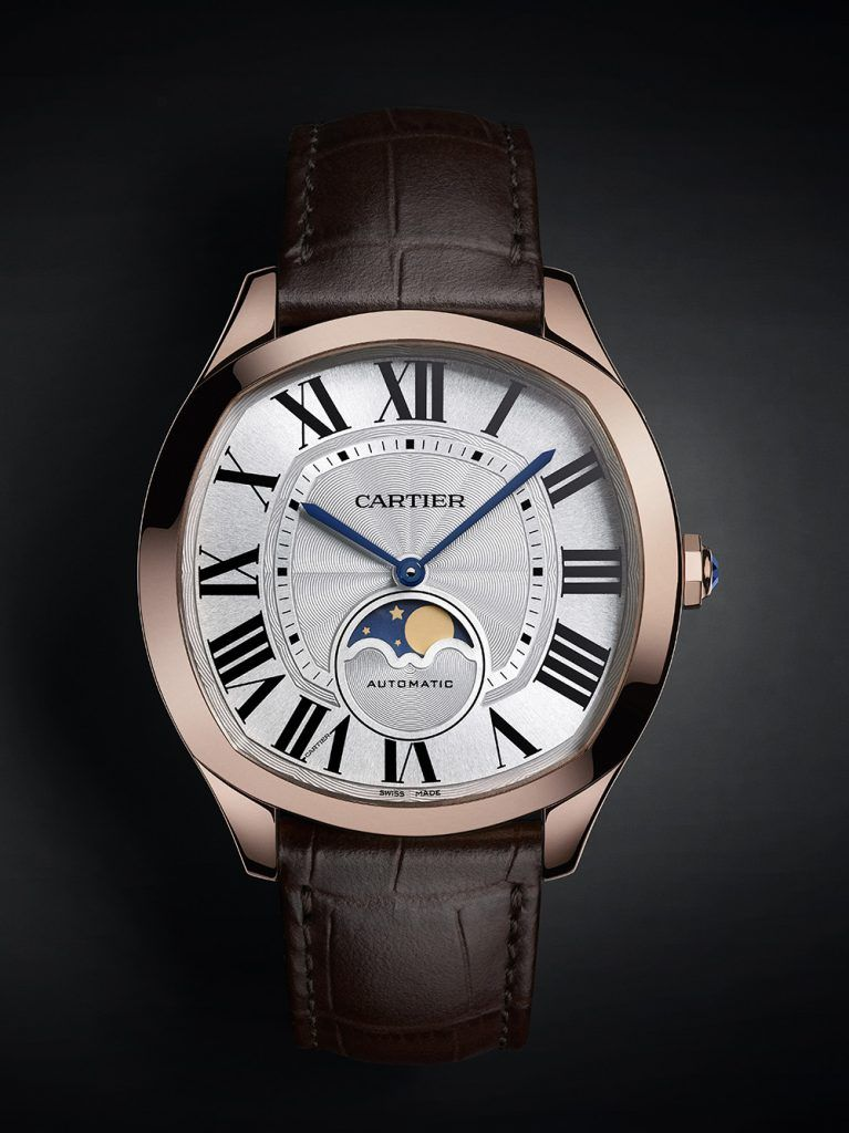 Cartier: Drive de Cartier Moon Phases, pink gold