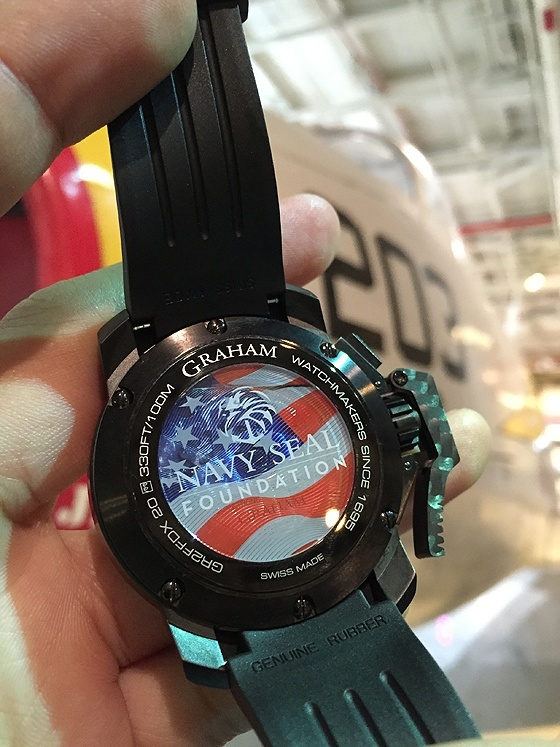 Graham Chronofighter Navy SEAL Foundation - back, live