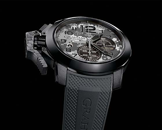 Graham Chronofighter Oversize Navy Seals Foundation - angle