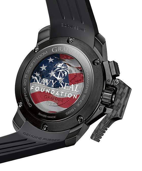 Graham Chronofighter Oversize Navy Seal Foundation - back