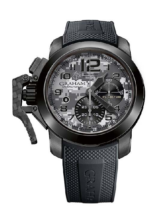 Graham Chronofighter Oversize Navy Seals Foundation - front