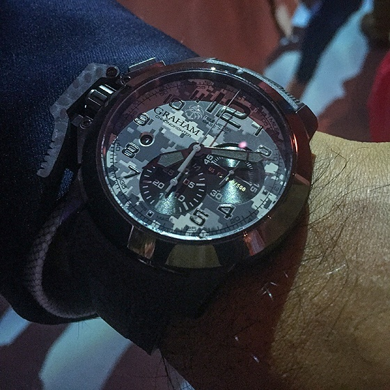 Graham Chronofighter Navy SEAL Foundation - wrist
