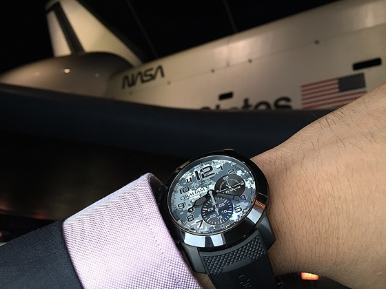 Graham Chronofighter Navy SEAL Foundation - wrist, with shuttle