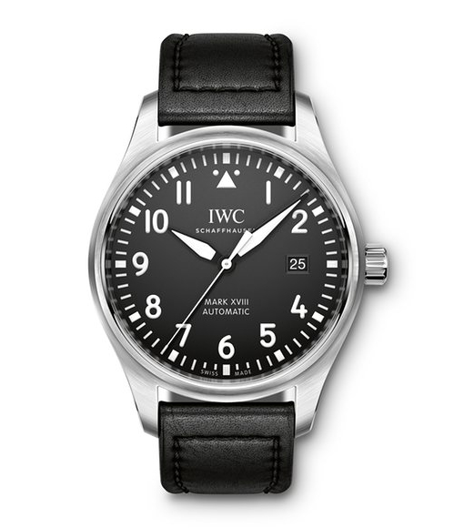 IWC Pilot Mark XVIII - black dial - front