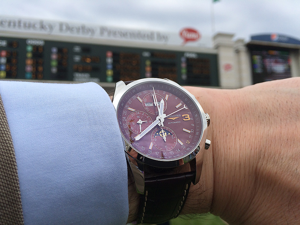 Longines Conquest Classic Triple Crown Limited Edition - Churchill Downs scoreboard