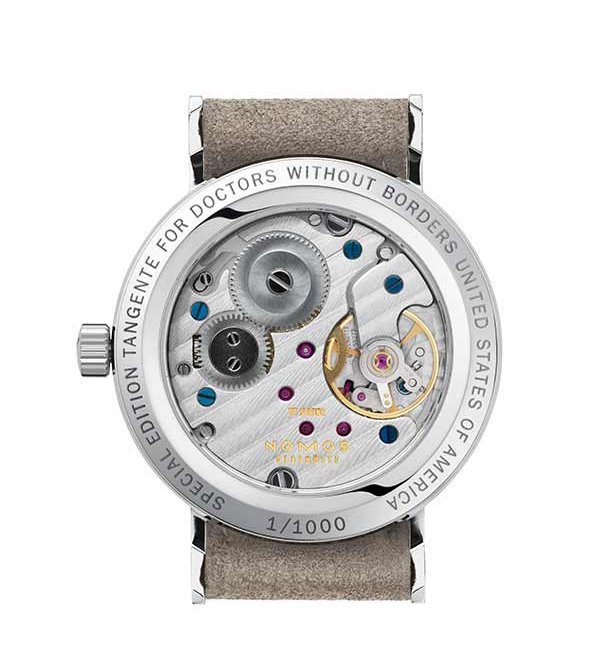 Nomos Tangente 33 Doctors Without Borders - back