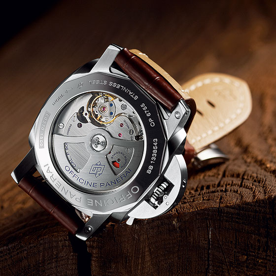 Panerai Luminor 1950 3 Days GMT - back - caliber