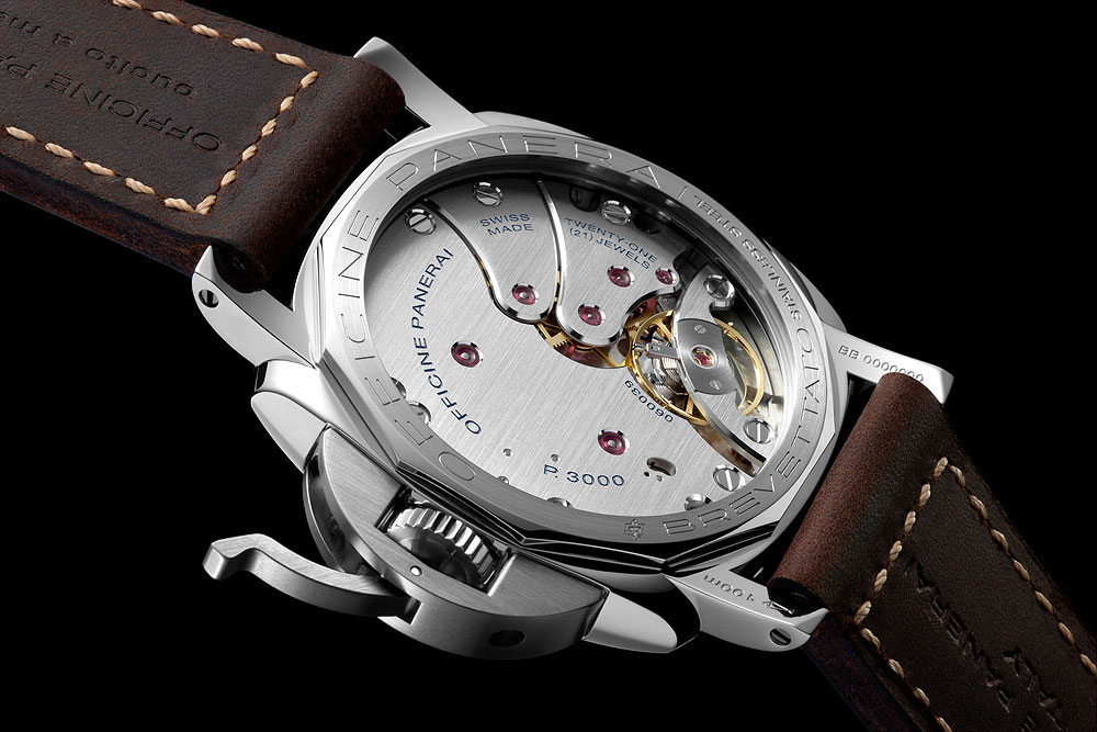 Panerai Luminor 1950 3 Days Acciaio - caseback