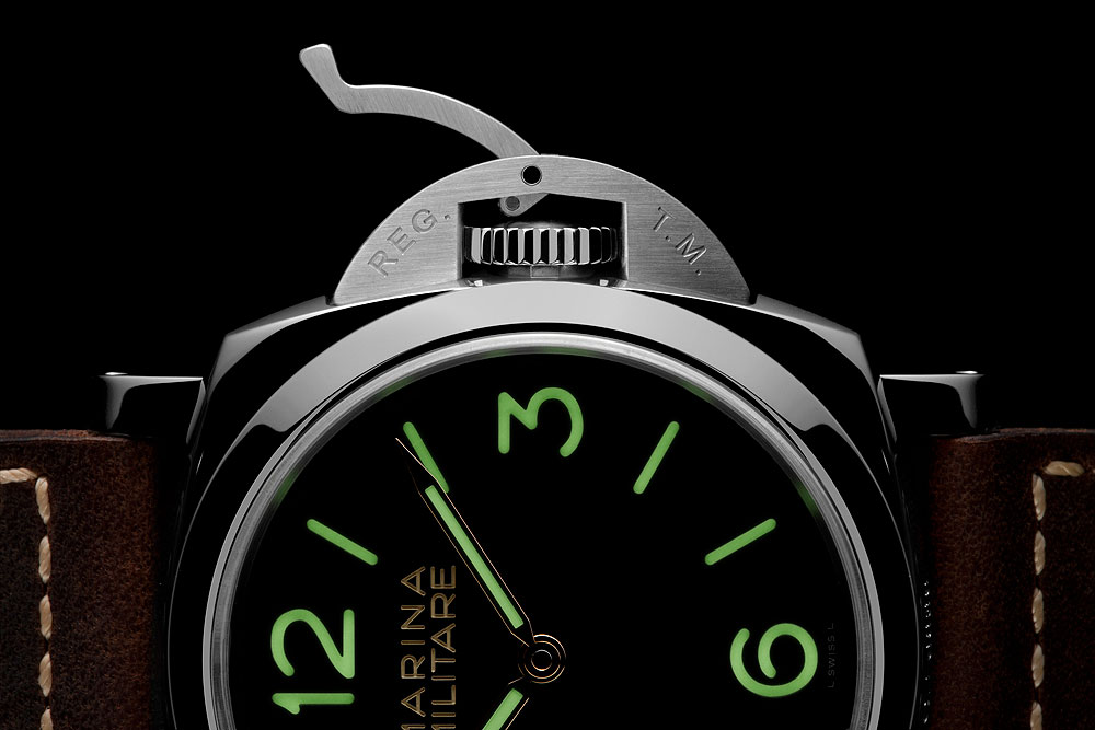 Panerai Luminor 1950 3 Days Acciaio - crown protector