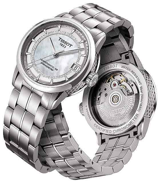 Tissot Luxury Automatic COSC Lady T086 208 - front-back