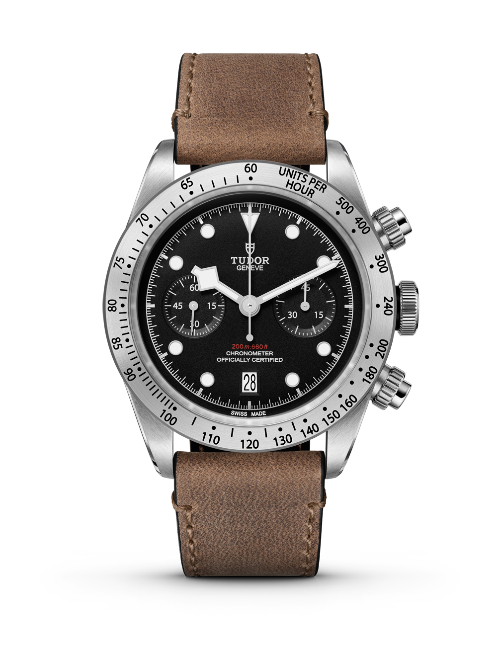 Tudor Black Bay Chronograph - leather strap - soldier