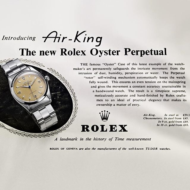 Rolex Air-King - vintage ad