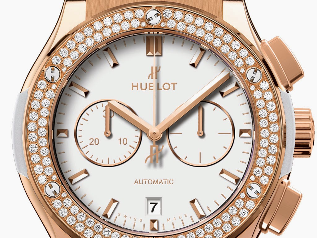 Hublot Classic Fusion King Gold diamonds chronograph dial