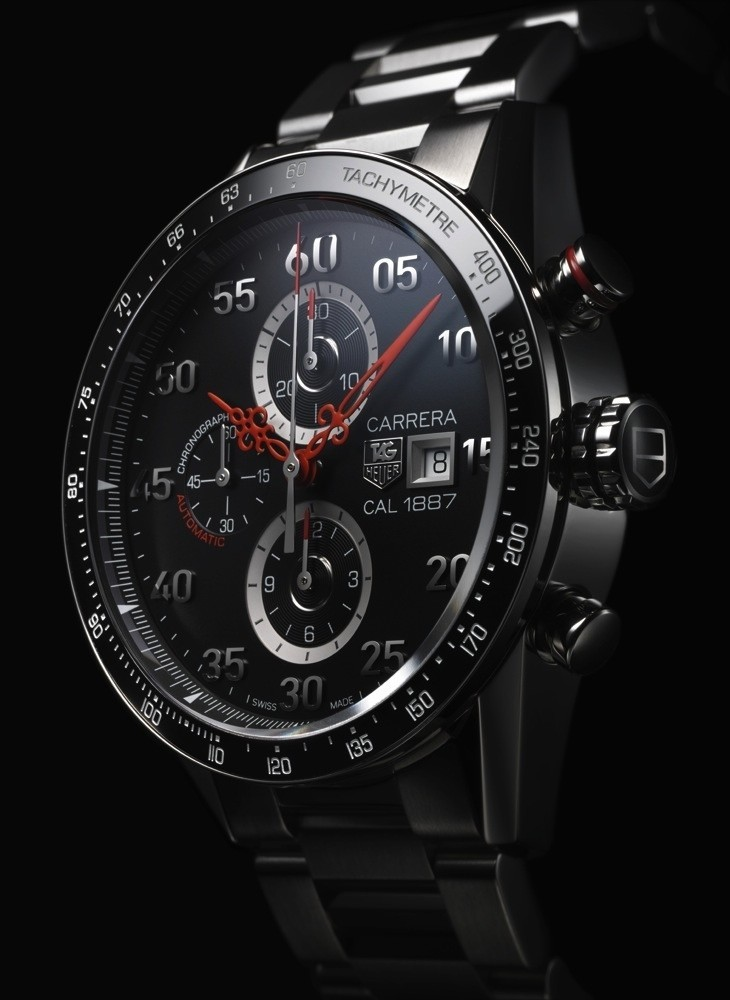 Side of TAG Heuer Carrera Calibre 1887 Time Machine Nendo Japan Limited Edition