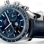 Side of Omega Speedmaster Moonphase Chronograph Master Chronometer watch 02