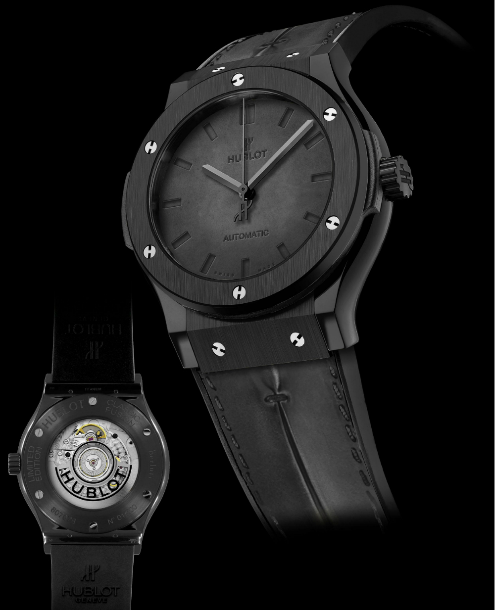 Hublot Classic Fusion Berluti Watch In All-Black & 'Scritto' Watch Releases