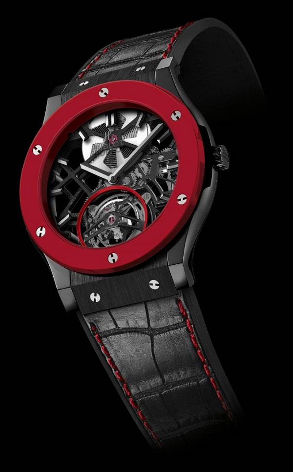 Hublot Debuts Red Ceramic In Classic Fusion Skeleton Tourbillon For Only Watch 2013 Watch Releases