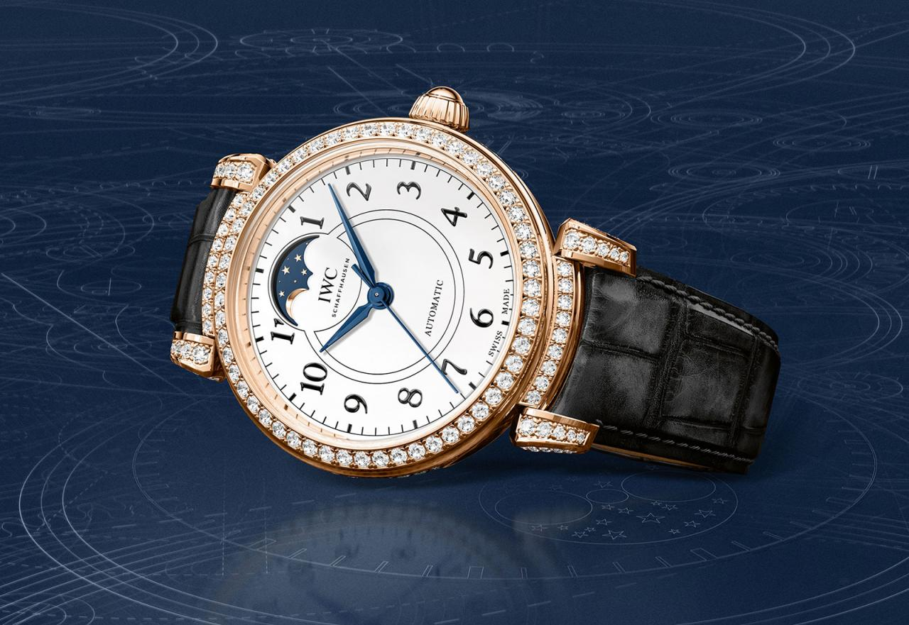 IWC Da Vinci Automatic Moon Phase 36 150 Years diamonds